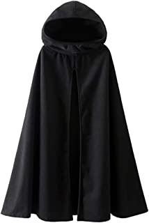 Fantasy Closet Womens Leisure Hooded Split Front Poncho Cape Cloak Trench Coat Outwear Halloween Outfit