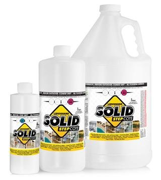SolidStepCote 02 Professional Non Slip Floor Coating, Clear (1 gallon)