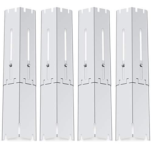Coisien Universal Durable Edelstahl Flavorizer Bars Ersatzteile, einstellbar von 29,8 cm bis 53,3 cm, Hitzeschild, Hitzzelt, Brennerabdeckung, Flammenverteiler für die meisten Gasgrills. (4er Pack)