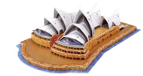 folia 34005 - 3D-Modellogic, Opera House - Sydney, 58 Teile - Detailgetreue Nachbildung aus vorgestanztem, verstärkten Karton zum Zusammenstecken