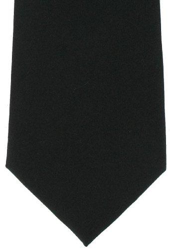 Michelsons of London Cravate simple noire Soie de