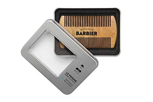 Monsieur BARBIER Peigne Barbe/Cheveux Homme en Bois de Santal : 100% Naturel