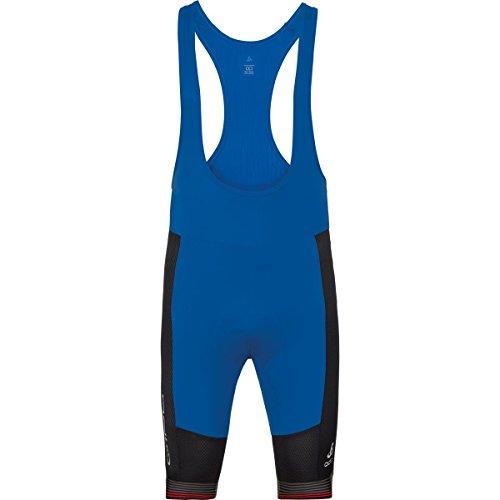 Odlo Tights Short Suspenders ceramicool x-Lig Collant Homme M Noir/Bleu (Black/Energy Blue)