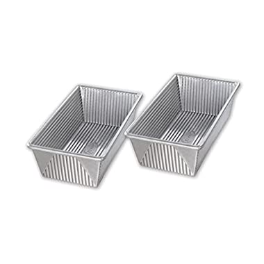 USA Pan Bakeware 1140LF-ST-2-1 Nonstick 1 Pound Loaf Pan, Set of 2