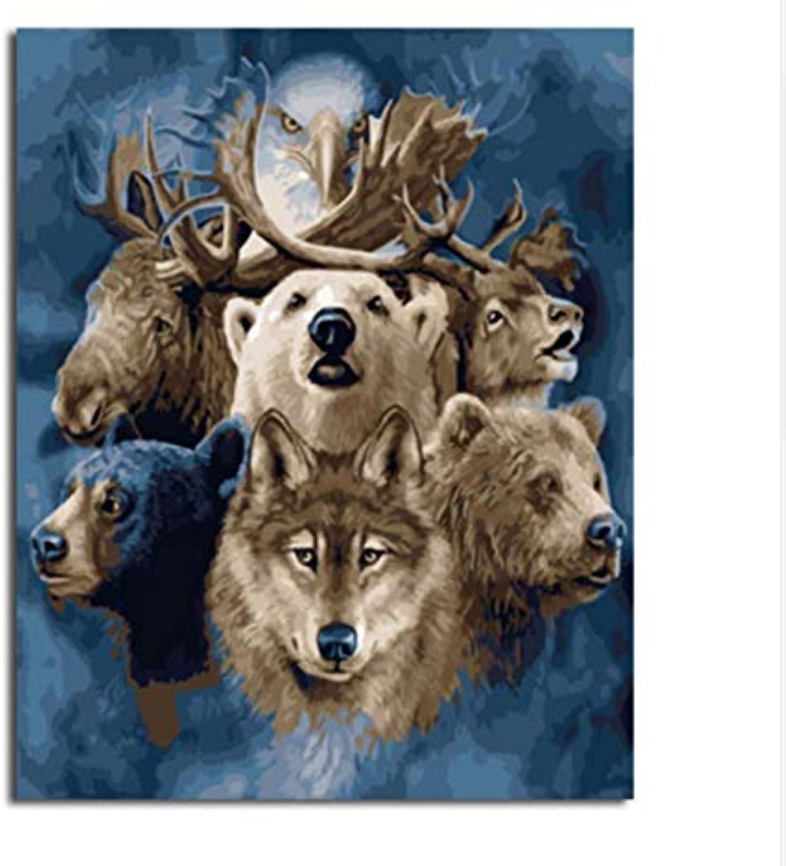 CZYYOU Bilder Malen Und Kalligraphie Von Tiere DIY Malerei by Zahlen Färbung by Zahlen Wohnkultur 40x50cm -Rahmenlos B07PB4ZZVX | Großer Verkauf