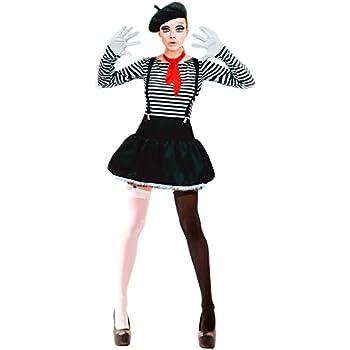 Disfraz Mimo mujer adulto para Carnaval L: Amazon.es: Juguetes y ...