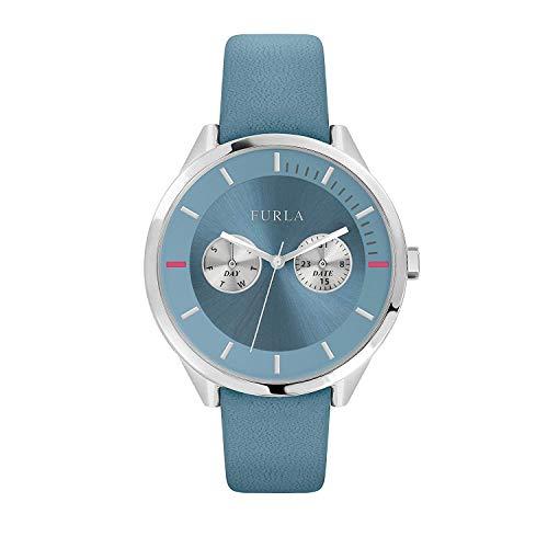 FURLA Damen Analog Quarz Uhr mit Leder Armband R4251102548