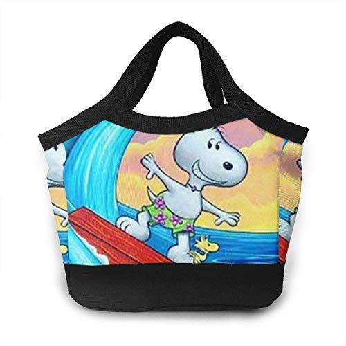 Bolsa de almuerzo Snoopy para verano, piscina, surf, almuerzo aislado para mujer y hombre, picnic, trabajo de viaje