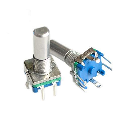 PENGYMY Potenciómetro 5pcs / Lote 20mm EC11 Encoder Rotary PotentiometerR con Interruptor 5 Pin Potenciómetro Digital D Tipo Manija