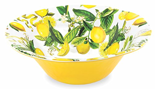 Michel Design Works Melamine Large Serving Bowl, Lemon Basil