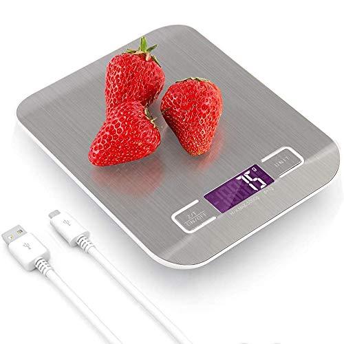 BEANFAN Báscula de pesaje electrónico gram balanza de precisión Escala electrónica Comercial en pequeña Cocina portátil pequeña Escala 5kg 10 Kg