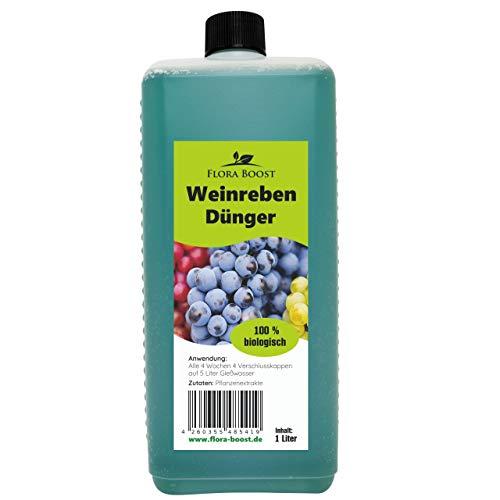 Konfitee Weinreben Dünger - Weinrebendünger für Traubenpflanzen - Mehr Weintrauben und gesunde Weinreben -1000 ml
