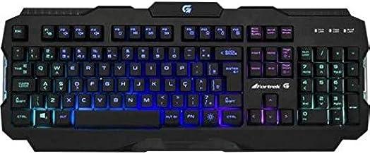 Teclado Gamer Pro K3 RGB Preto FORTREK, Fortrek, Teclados
