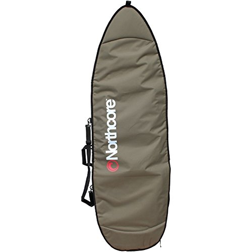 Northcore Aircooled Board Jacket Shortboard Bag Funda para skateboard, Adultos unisex, Gris (Gris), 7,0''