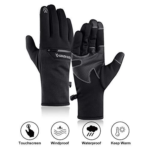 Homealexa Touchscreen Handschuhe Winterhandschuhe Winddicht Outdoor Sport Handschuhe Fahrradhandschuhe Laufhandschuhe Radfahren Handschuhe mit Touchscreen Funktion für Smartphones (Schwarz, XL)
