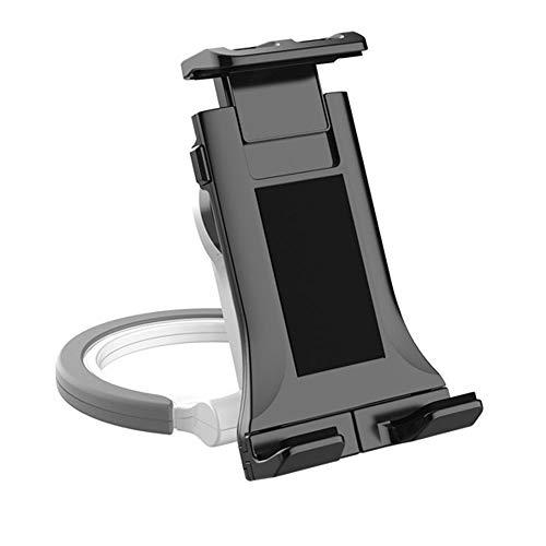 LISRUILY - Soporte para tablet de coche, soporte para teléfono móvil, ventosa para tableta, soporte de pared de escritorio, universal, lavable, multifunción, color blanco