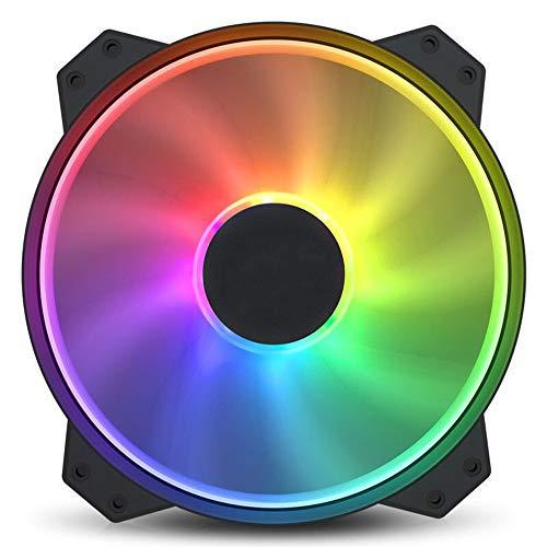 VIVITG RGB Ordenador Personal Ventiladores de Caja, 200 mm ARGB 12V Direccionable LED Silencio Ordenador Ventilador Enfriador Enfriamiento RGB Aficionados