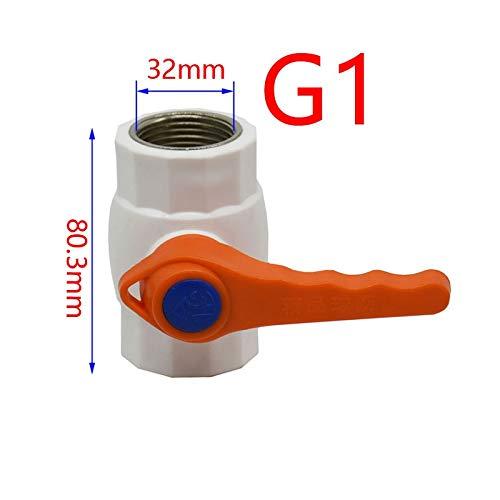 LISHI-DZI 1pcs G3 / 4 G1 G1 / 2 Edelstahl-Kugelhahn 2-Wege-Garten Leitungswasser Absperren Flow Controller Ventil Für Garten (Color : G1I2)