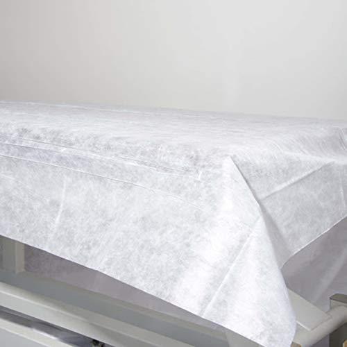 Wegwerp-hoeslaken, niet verstelbaar, 100% recyclebaar, 80 x 200 cm. Waterdicht en hypoallergeen. Ideaal voor bedden, massagebedden, ziekenhuisbedden. Gemaakt in Spanje.