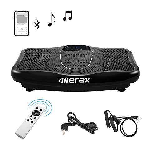Coolautoparts Vibrationsplatte 3D 5 Trainingsprogramme + 180 Stufen Touchscreen Bluetooth Lautsprecher Fett verlieren und Fitnesstraining von Zuause [EU Stock]