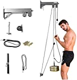 S SMAUTOP Cable Pulley, Forearm Wrist Trainer, Tricep Workout Machine Wall-Mounted Cable Pulley...