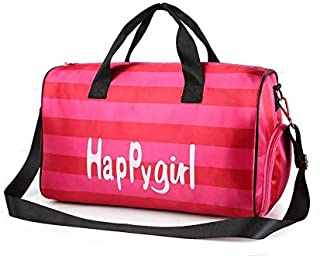 Sports Gym Bag, Travel Duffel Bag Tote Swim Bag with Wet Pocket & Shoes Compartment for Women & Men