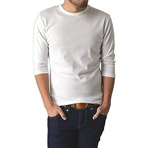 (リミテッドセレクト) LIMITED SELECT M1.5 無地フライスクルーネック7分袖Tシャツ カットソー メンズ RE-0341 LL サイズ A オフ