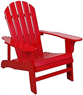 Leigh Country TX 94050 Adirondack Chair, Red