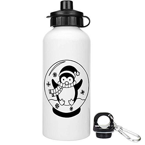 Azeeda 600ml 'Pinguin Schneekugel' Trinkflasche / Wasser-Flasche (WT00001401)