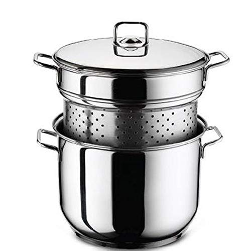 Stainless Steel Spaghetti Pasta Pot Pan Set Stockpot Strainer Induction Base