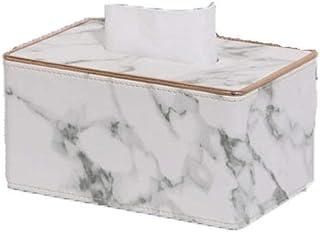 Caja De Pañuelos Marmoleado Servilletero De Cuero para Kleenex Servilleta Decoración De Coches Cuarto De Baño AparadoresA-S