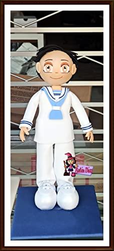 Fofucha primera comunión niño marinero