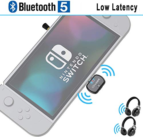 Giveet USB Type-C Bluetooth Audio Transmitter Adapter for Nintendo Switch PC PS4 MAC, Support in-Game Voice Chat, Plug n Play, Wireless Audio Adaptor Pairing with AirPods Bose Headphones, Low Latency