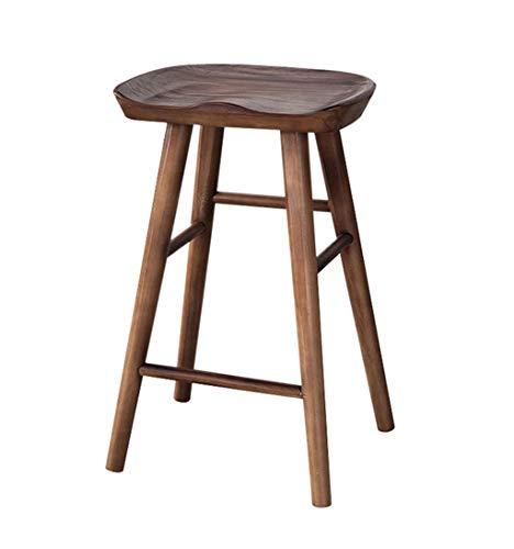 LLYU Houten hoge kruk keuken stoel bar kruk stoel recreatieve stoel retro bar stoel balie kantoor lounge bar kruk 75cm