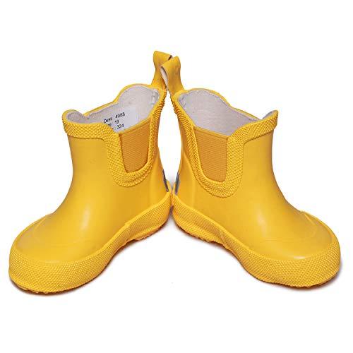 CeLaVi Unisex-Child Basic Wellies Short Rain Boot, Gelb(Gelb), 23 EU
