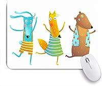 マウスパッド カラフルなシャツかわいいちゃんウサギおかしいキツネクマ ゲーミング オフィス おしゃれ がい りめゴム ゲーミングなど ノートブックコンピュータマウスマット