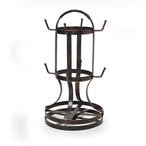 Gourmet Basics by Mikasa 5158729 Metal Rotating 8Cup Mug Tree Antique Black