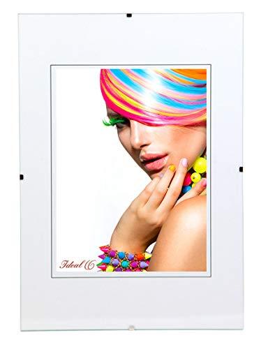 Ideal Trend Rahmenlos Bildhalter Klarglas Bilderrahmen 10x15 cm bis 50x70 cm Clip Rahmen: Format: 30x40