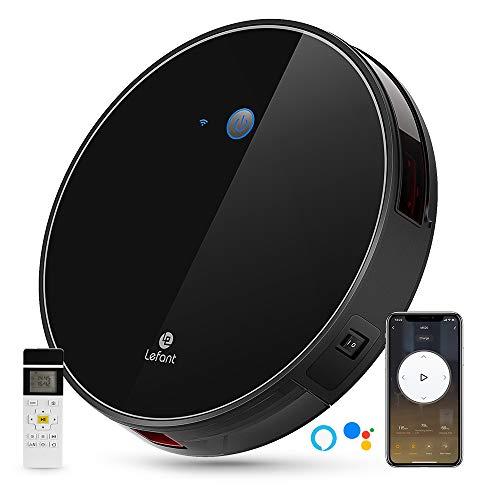 LEFANT Robot Aspirador WiFi Aspirador de Limpieza con App, Succión Fuerte 2200 Pa Aspiradora Robot con Alexa y Google, Navegación Inteligente, Silencioso, Auto-Carga, para Pelo de Mascotas M520