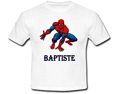 Tshirt personnalisé Spiderman prénom et Taille au Choix