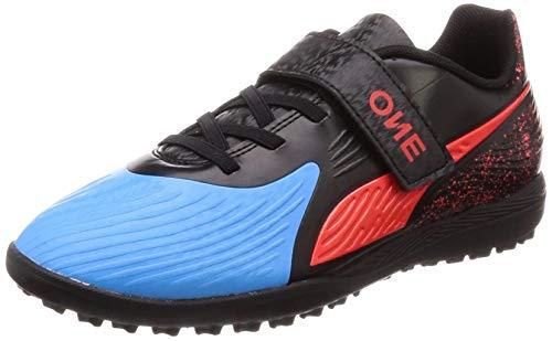 Puma One 19.4 TT V Jr, Zapatillas de Fútbol Unisex Niños, Azul (Bleu Azur-Red Blast Black), 38.5 EU