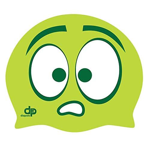 Diapolo Professionale Schwimmkappe Monster Green Silikon Badekappe Bademütze Schwimmmütze für Damen und Herren und Mädchen und Jungen
