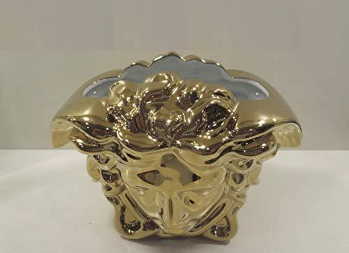 Versace Rosenthal - Vase - Medusa Grande - Gold - Höhe: 15 cm - Porzellan - super edel und luxuriös