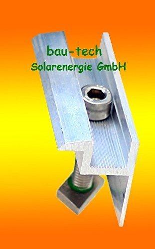 4 Modul Endklemmen 40mm von bau-tech Solarenergie