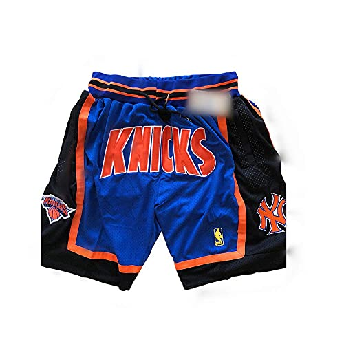 ULIIM Basketball Knicks a Pantaloncino da Uomo Alta-qualità Mesh Retro New York Knickss Swingman...