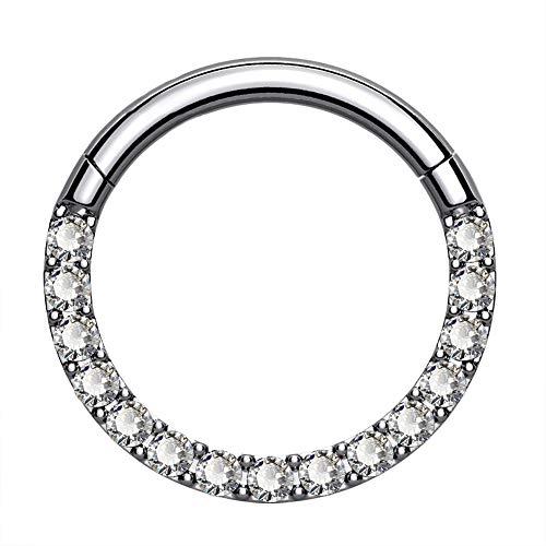 Titanium Daith Hoop Earring by Oufer