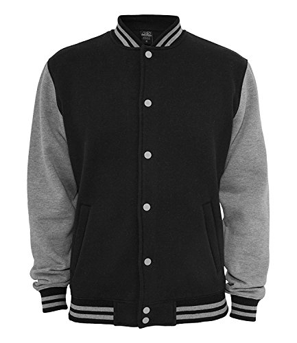 Ethno Designs Old School Gearhead - Hot Rod College Jacke für Damen und Herren - Old School Rockabilly Jacke Ethno Designs Retro Style - navy/sportsgrey, Größe L