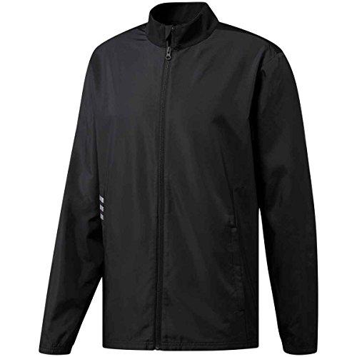 adidas Golf Men's Club Full Zip Wind Jacket, Black,...