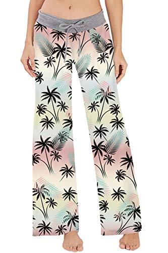 CICIYONER Mujeres el/ásticos el/ásticos Ajustados Pantalones de Pijama Diarios de Yoga el sue/ño Casual