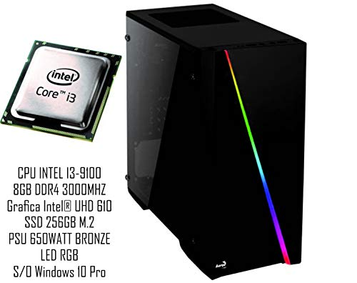 PC Gaming REDI GX4000SD Intel i3-9100 B365M 8GB DDR4 3000MHZ
